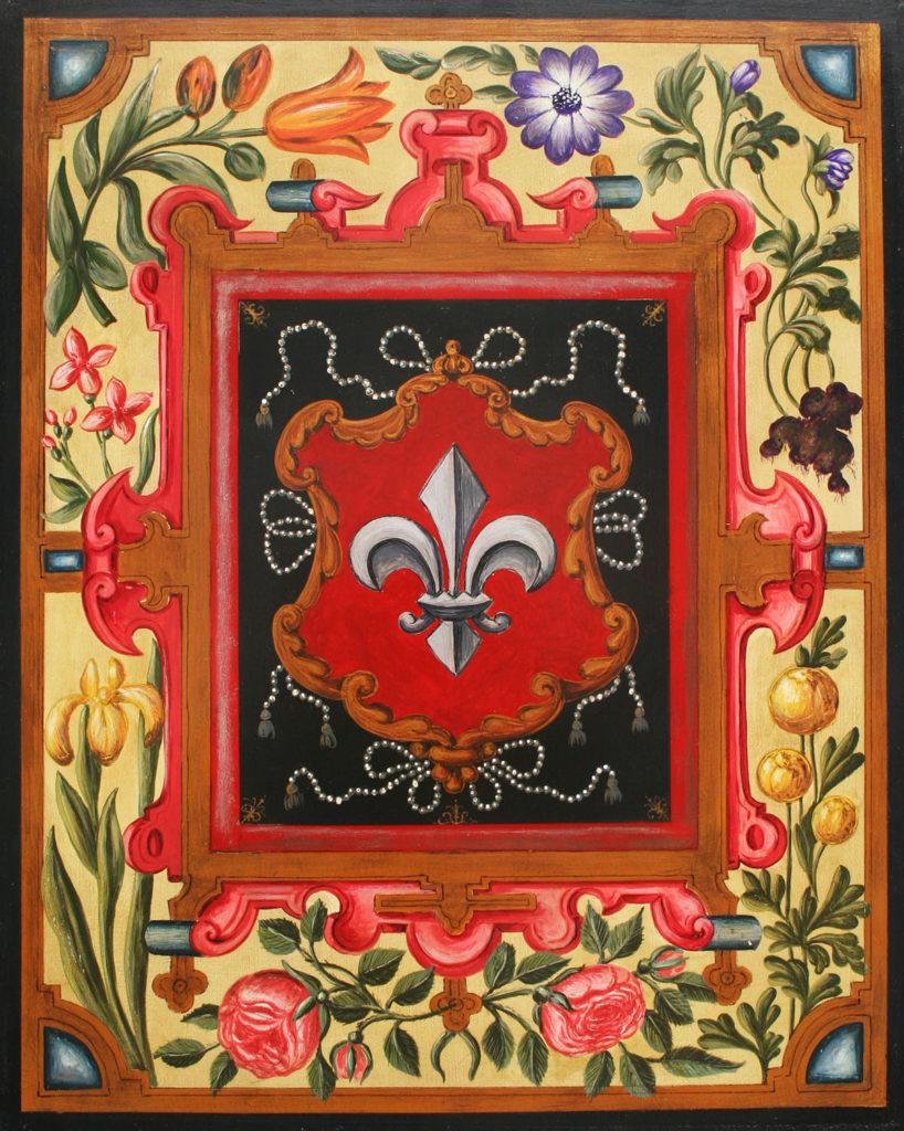 Représentation en tableau de Croÿ des armoiries de Lille.