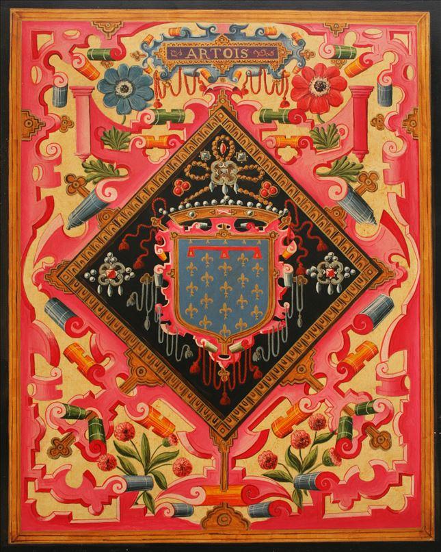 Représentation en tableau de Croÿ des armoiries d'artois.