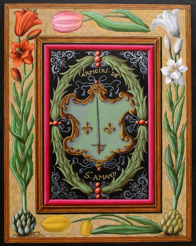 Représentation en tableau de Croÿ des armoiries de Saint-Amand.