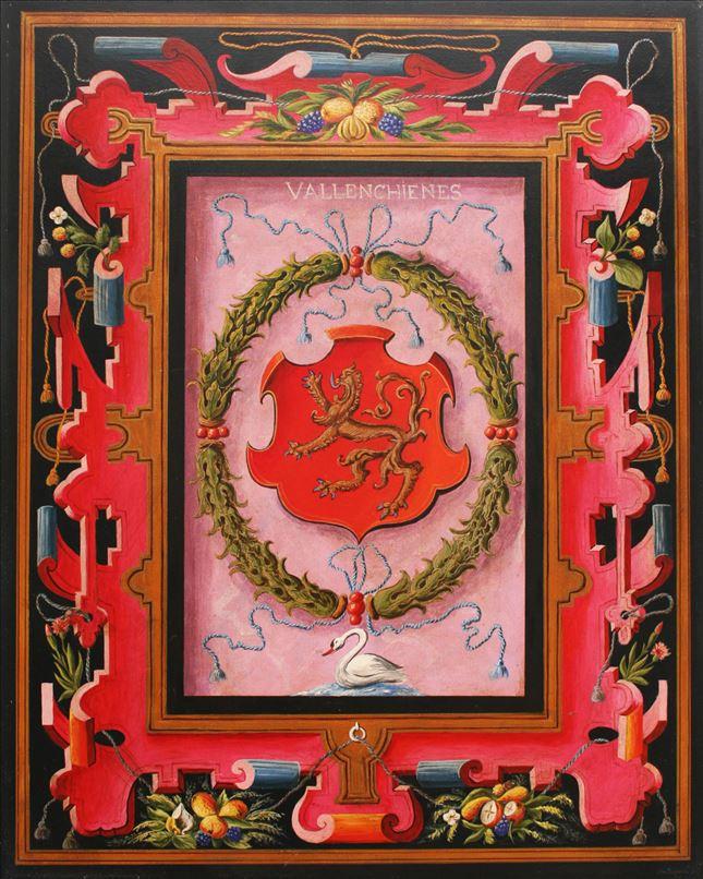 Représentation en tableau de Croÿ des armoiries de Valenciennes.